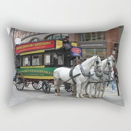 A Horse Drawn Bus - © Doc Braham; All Rights Reserved. Rectangular Pillow