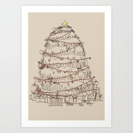 chirstmas tree Art Print