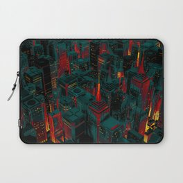 Night city glow cartoon Laptop Sleeve