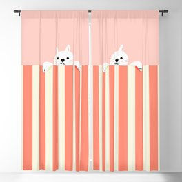 Abstraction_Little_Cat_Cute_Minimalism_001 Blackout Curtain