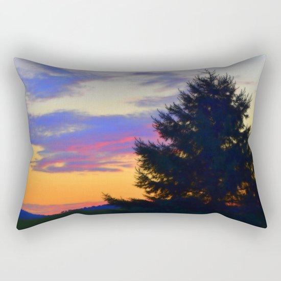 West Brome Sunset Landscape Rectangular Pillow