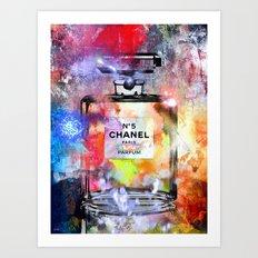 No 5 Painted Art Print