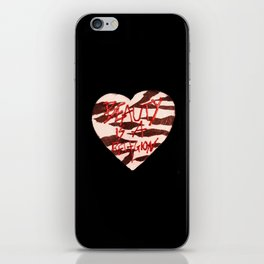 BeautyIsAReligion `ZEBRA HEART` iPhone Skin
