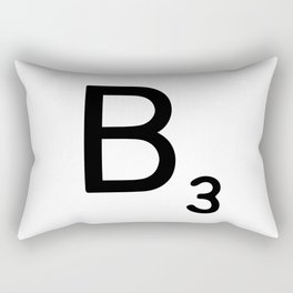 Letter B - Custom Scrabble Letter Wall Art - Scrabble B Rectangular Pillow