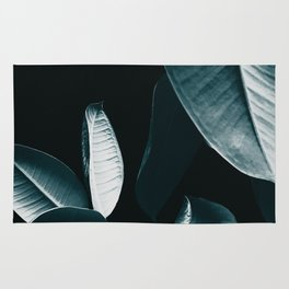 Ficus Elastica DARK NIGHT #1 #foliage #decor #art #society6 Rug