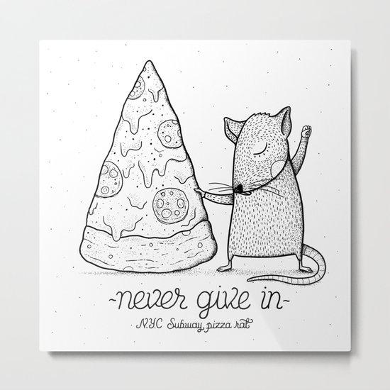 Pizza Rat Metal Print
