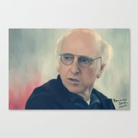 larry david Canvas Prints featuring Larry David by Annarose Naomi