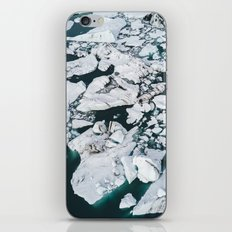 Icelandic glacier icebergs from above - Landscape Photography iPhone & iPod Skin