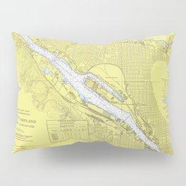 Vintage Map of Portland OR (1974) Pillow Sham