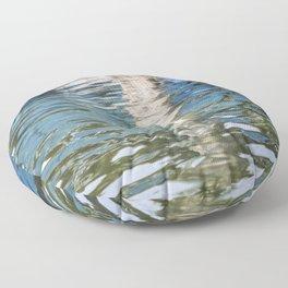 Reflecting Blues Floor Pillow