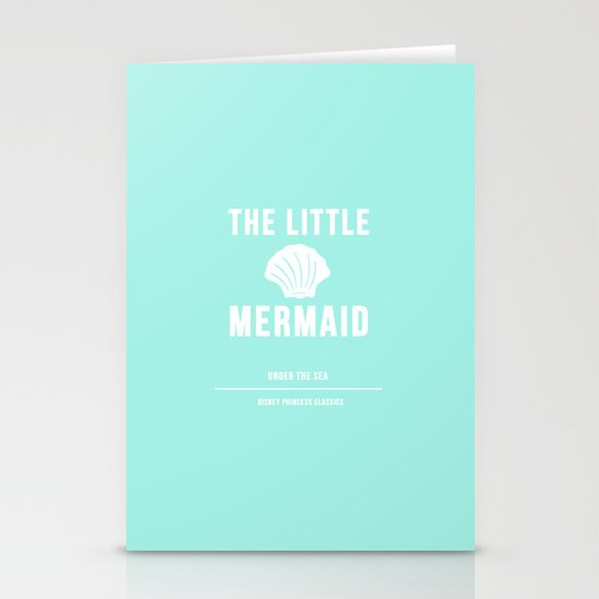 Disney Princesses: The Little Mermaid Minimalist Stationery Cards