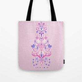 La Vie & La Mort – Pink & Periwinkle Tote Bag