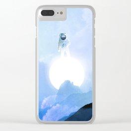 Astronaut on the Sun Clear iPhone Case
