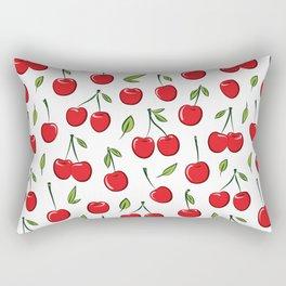 Cheerful cherry pattern. Colorful cherries on white Rectangular Pillow