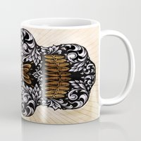 calavera Mugs featuring CALAVERA by Nick Potash