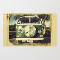 hippie Area & Throw Rugs featuring Hippie Car by Arther Maure / URBANIC PHOTOGRAPHY
