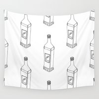 tequila Wall Tapestries featuring Tequila Pattern by Mrs. Ciccoricco