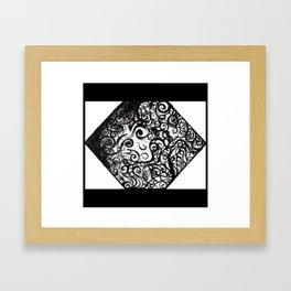 Anxious Me Framed Art Print