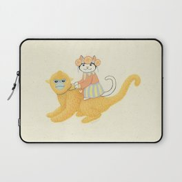 The White Cat with Monkey Laptop Sleeve
