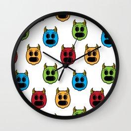 Monster Pattern Wall Clock