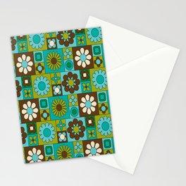 Flower power retro design Stationery Cards