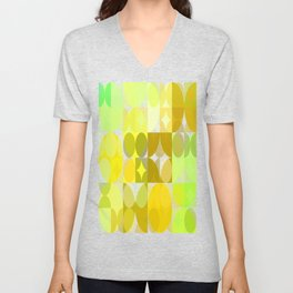Pale Yellow Poinsettia 1 Abstract Circles 3 Unisex V-Neck