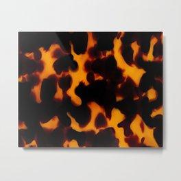 Flamed Tortoise Shell Pattern Metal Print