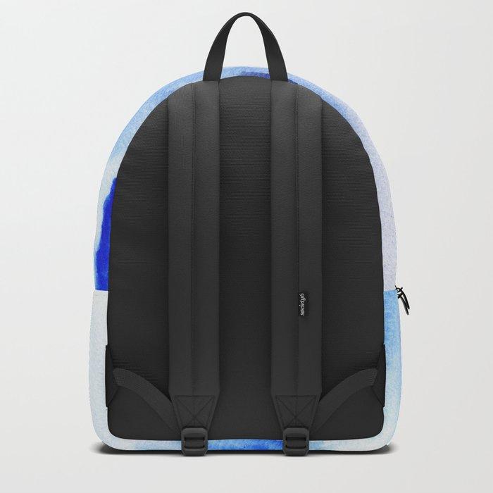 Boho Blue Watercolor Backpack