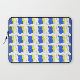 flag of canary islands-canaries,canary,atlantic,canarias,Canarian,canario,canaria,spain,spanish, Laptop Sleeve