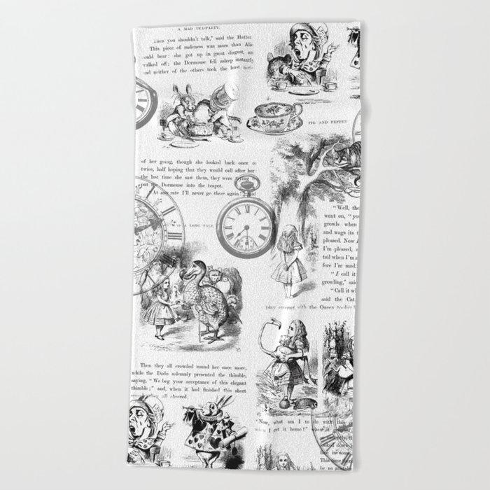 Alice in Wonderland - Pages Beach Towel