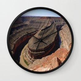 A Meander Of The Goosenecks Wall Clock