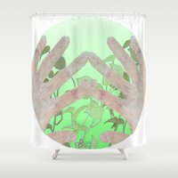 tote bag Shower Curtains featuring Bag by The Likes of Art