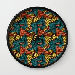 Color Triangle Funk Wall Clock