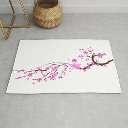 Japanese,sakura tree.Pink cherry blossom flower. Rug