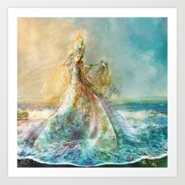 Shell Maiden Art Print