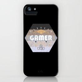 Forever Gamer Grey Vintage Retro Gaming iPhone Case