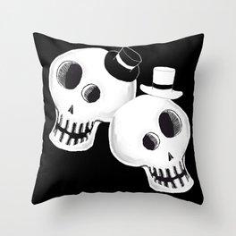 Dapper Skulls Throw Pillow