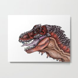Tyrannosaurs  Metal Print