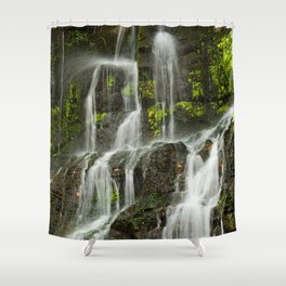 Ho Opi'i Waterfall  Shower Curtain