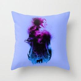 Forest queen Throw Pillow