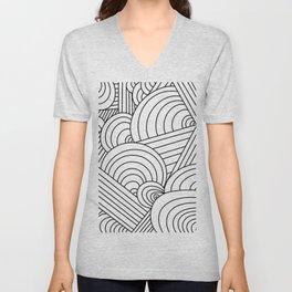 Geometric Lines Unisex V-Neck