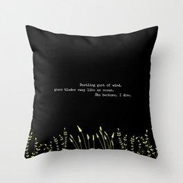 I Dive Into Her Haiku Throw Pillow