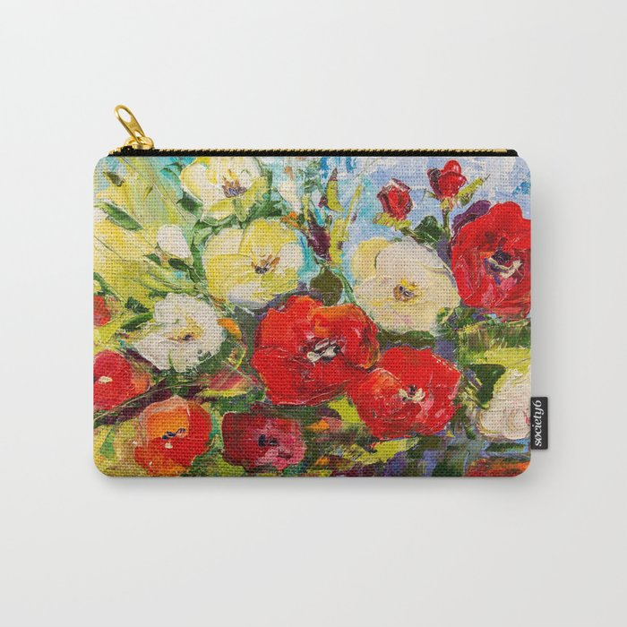 Bright bouquet Carry-All Pouch