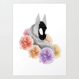 Flowered Demon Art Print