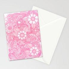 Henna Design - Pink Stationery Cards