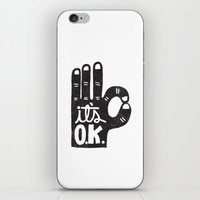 okay iPhone & iPod Skins featuring IT'S OKAY by Matthew Taylor Wilson