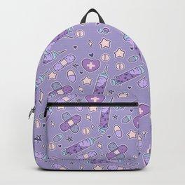 Menhera Needles on Purple Backpack