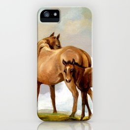 Thoroughbred Mare and Foal iPhone Case