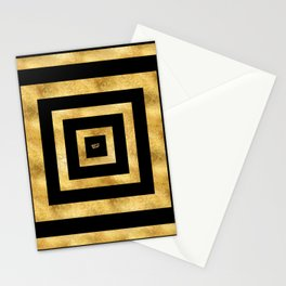 ART DECO SQUARES BLACK AND GOLD #minimal #art #design #kirovair #buyart #decor #home Stationery Cards