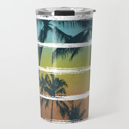 Tropical Brush Strokes II Travel Mug